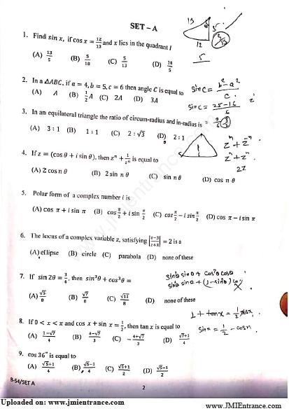 BSc in Mathematics - Jamia Millia Islamia - 2019